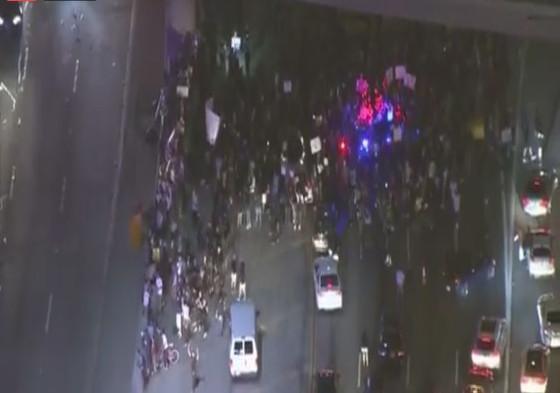protestors-block-110-freeway