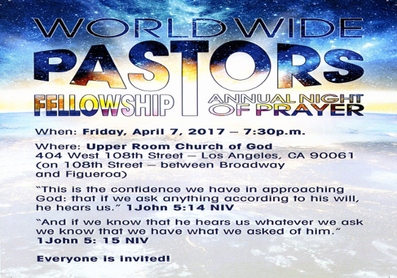 World Wide Pastor's Fellowship Night of Prayer