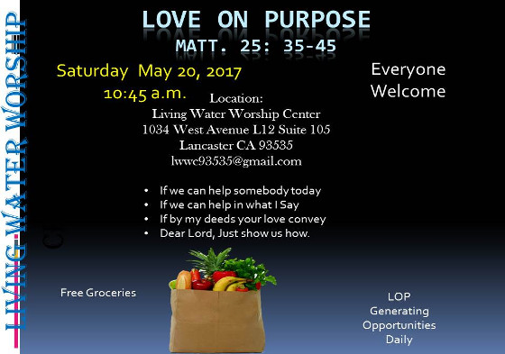 Love on Purpose Food Ministry LWWC May 2017