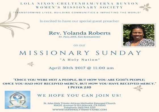 St John Holy Trinity Missionary Sunday