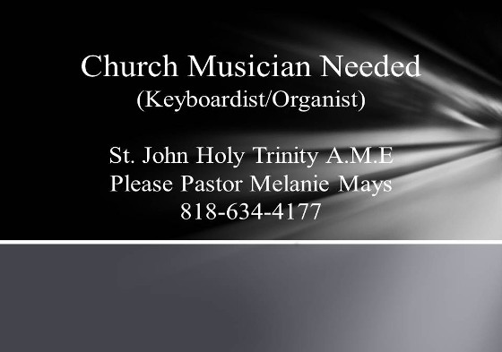 Church Musician Needed