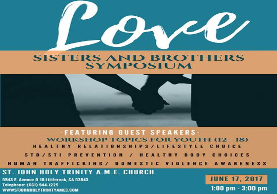 St. John Holy Trinity Love Sisters & Brothers Symposium
