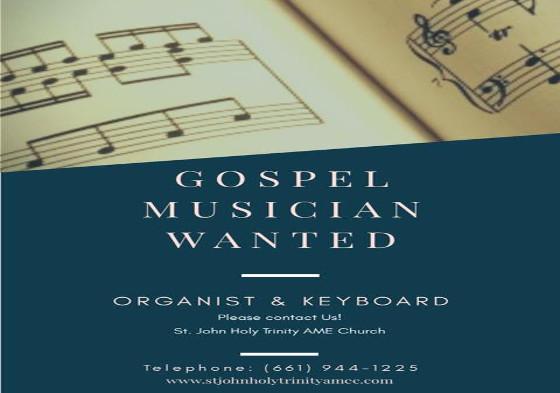 St. John Holy Trinity Musician Wanted 2