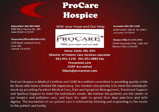 Venus Davis ProCare Hospice 5
