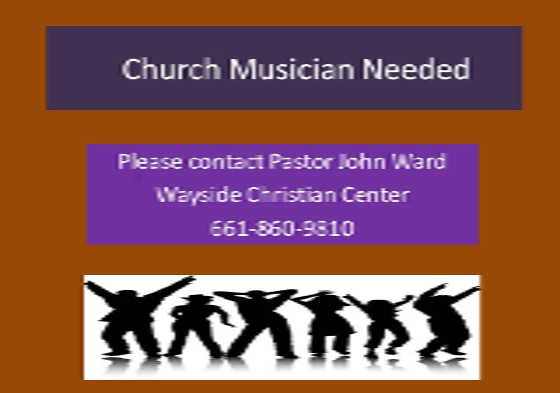 Church Musician Needed John Ward