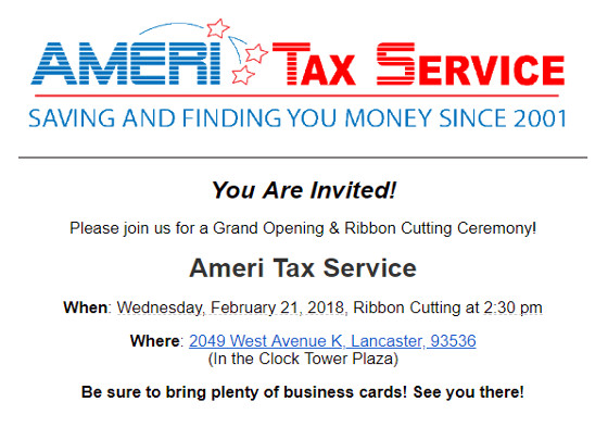 Ameri Tax Service Grand Opening & Ribbon Cutting