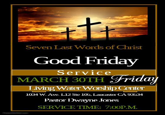 Good Friday Service 2 2018
