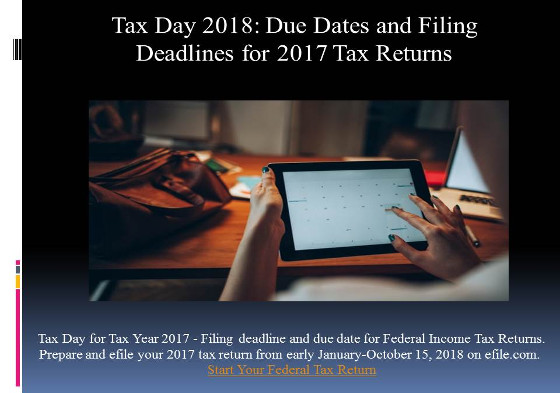 2017 Tax Deadline Flyer