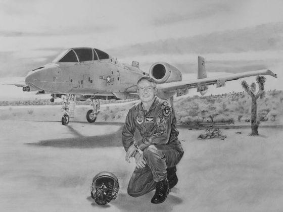Pencileman 12 Airplane and Pilot