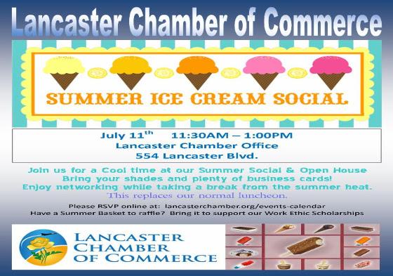 Lancaster Chamber Ice Cream Social