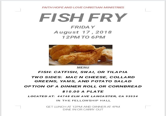 Faith Hope & Love Fish Fry
