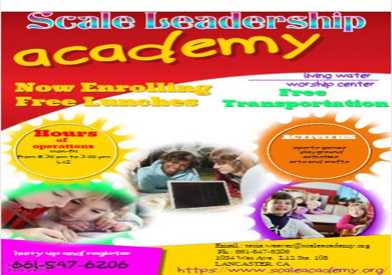 Scale Leadership Academy Flyer 4
