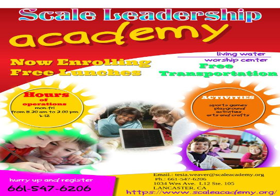 Scale Leadership Academy Posted Flyer