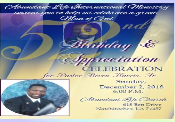 Pastor Steven R. Harris Anniversary....