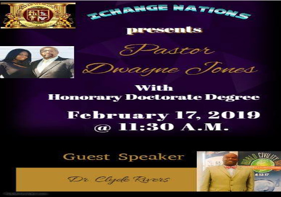 Dr. Dwayne Jones Honary Doctorate Degree