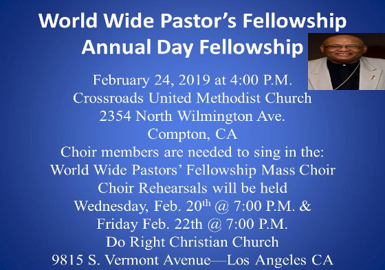 World Wide Pastor's Fellowship 2019