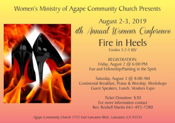 Agape Community Church Front Page Women's Conference 2019